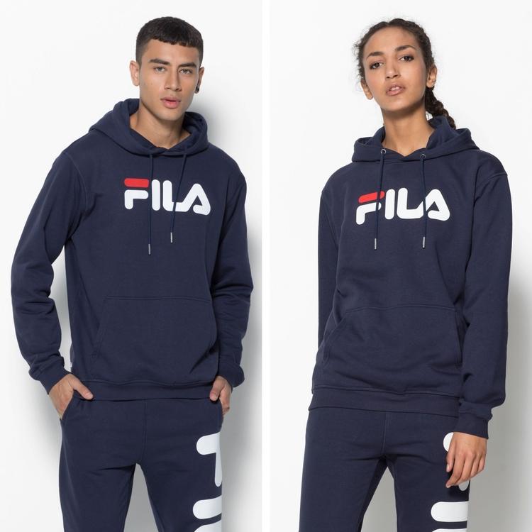 FILA - PURE Basic Hoodie - marinblå (unisex)
