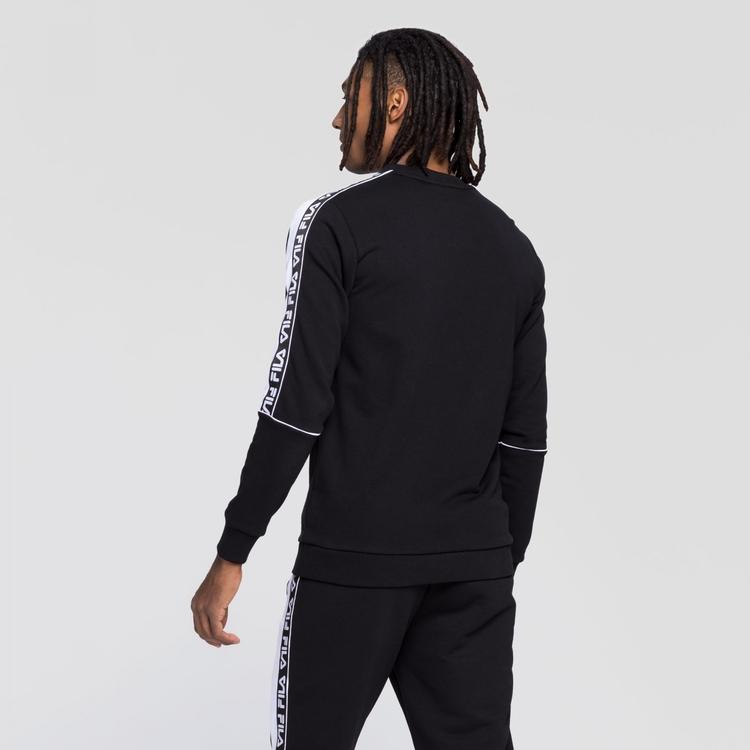 FILA - TEOM Taped Foundation Crew neck tröja - svart