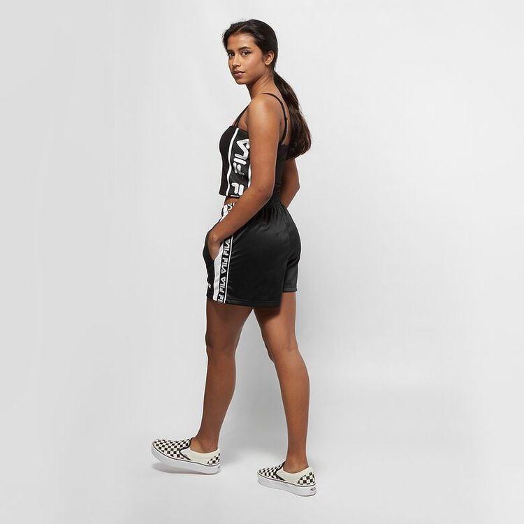 FILA - TARIN Taped Foundation High Waist Shorts -  Svart