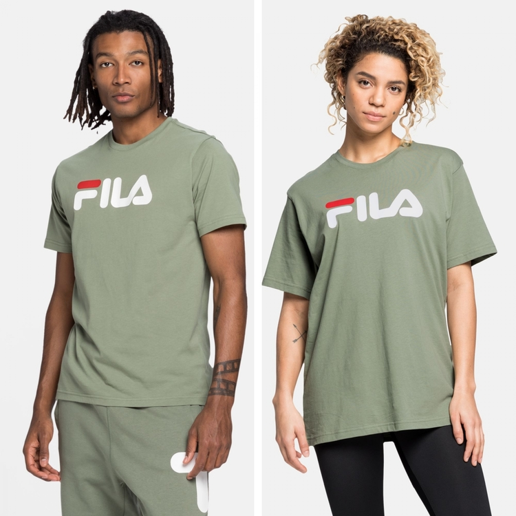 FILA - PURE Basics T-shirt - Sea spray / Grön