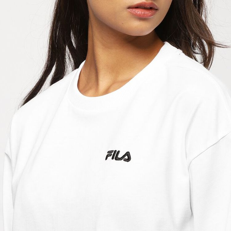 FILA - CALANDRA Club Chaos Cropped Long Sleeved T-shirt - Vit