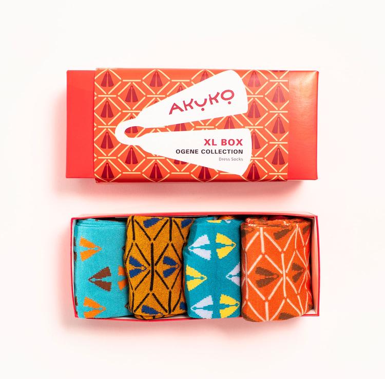 AKUKO - Giftbox Ogene Dress Bamboo Socks