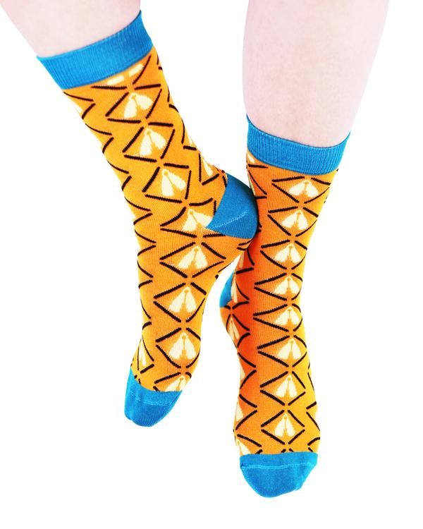AKUKO - Orange & Blue Ogene Classic Bamboo Socks