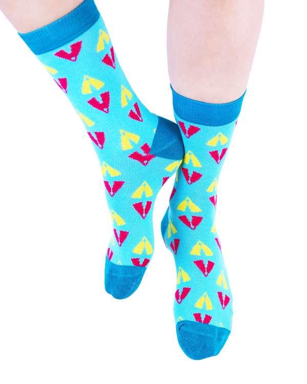 AKUKO - Blue & Turquoise Ogene Vibes Bamboo Socks