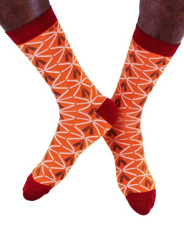 AKUKO - Rusty Ogene Diamond Bamboo Socks