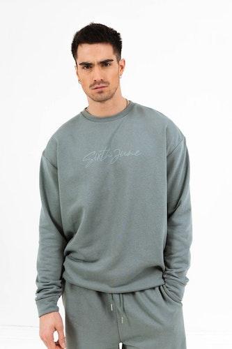 SIXTH JUNE - Embossed logo signature sweatshirt - Green