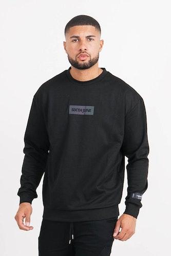 SIXTH JUNE - Basic iridescent sweatshirt - Black
