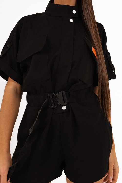SIXTH JUNE -  Utility Overall Jumpsuit - Black