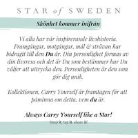 STAR OF SWEDEN | Långt halsband  | 18K Guld | Milky Aqua