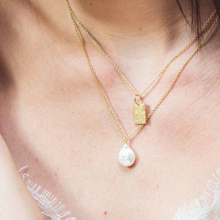 guldsmycken med pärla anita june