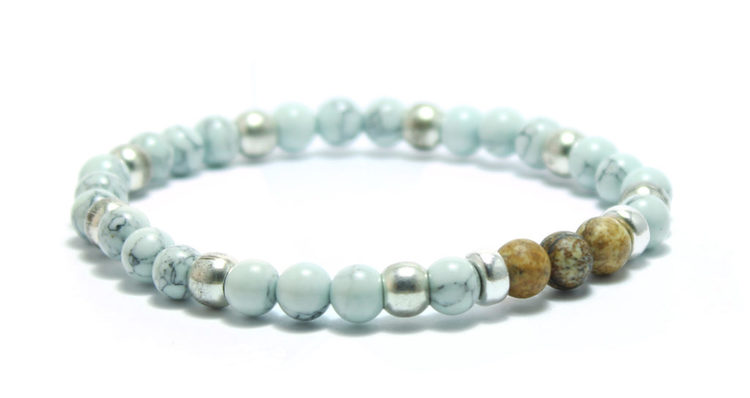 armband ljusblått stenar ocean blue unit jewelry