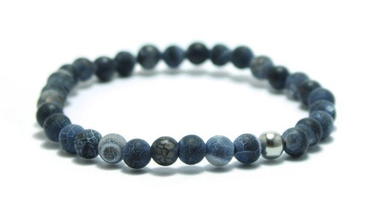 smycken tufft armband med blå stenar och sterlingsilver