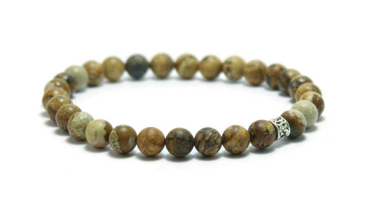 armband i ljusbruna stenar unit jewelry