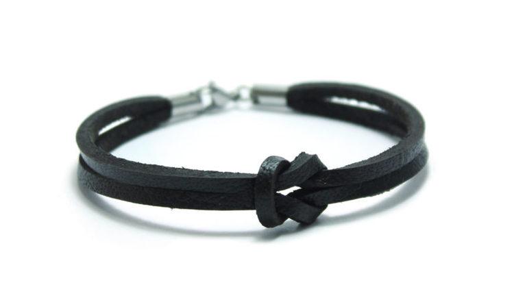 armband brunt läder duo leather unit jewelry