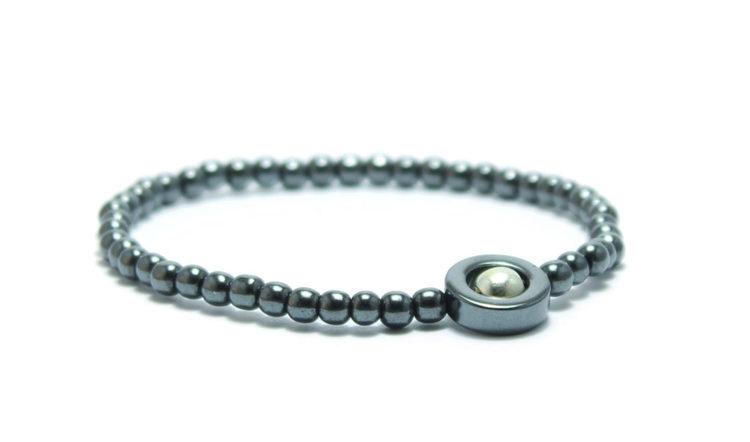 armband silver hematite core unit jewelry