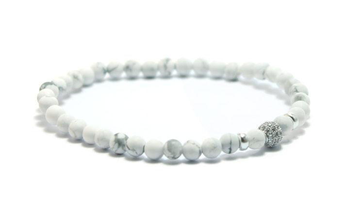 armband vitt silver unit jewelry