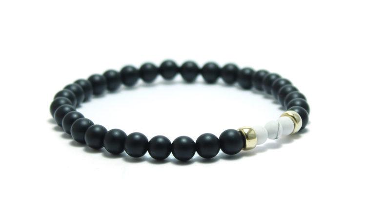 armband stenar svart vitt unit jewelry