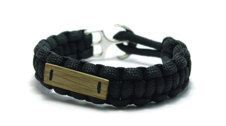 armband svart paracord unit jewelry
