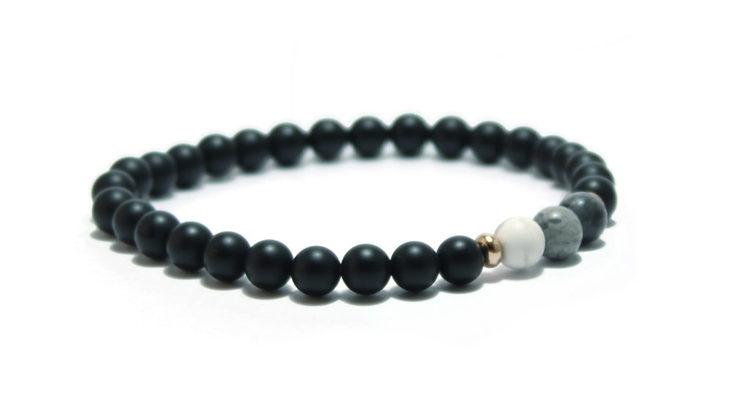 armband svart stenar unit jewelry