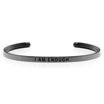 DANIEL SWORD | Armband | I am enough - Space Grey