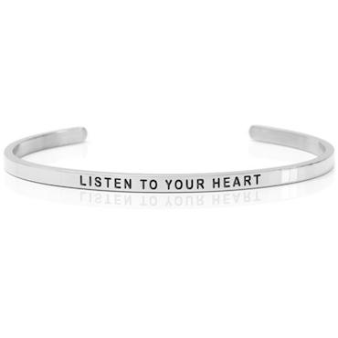 DANIEL SWORD | Armband | Listen to your heart - Steel