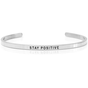 DANIEL SWORD | Armband | Stay positive - Steel