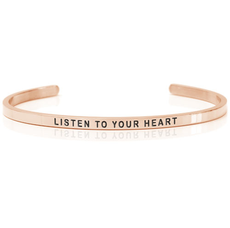 armband i roséguld daniel sword Listen to your heart