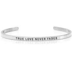 DANIEL SWORD | Armband | True love never fades - Steel
