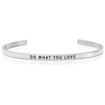 DANIEL SWORD | Armband | Do what you love - Steel