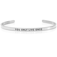 DANIEL SWORD | Armband | You only live once - Steel