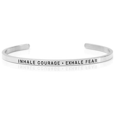 DANIEL SWORD | ARMBAND | Inhale courage - Exhale fear - Steel