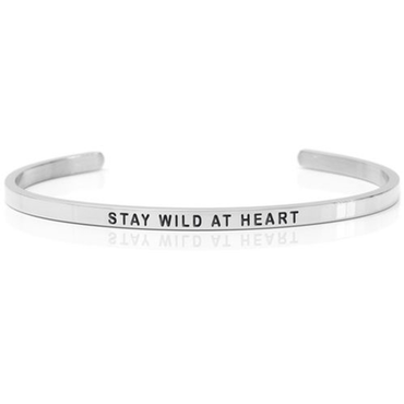 DANIEL SWORD | Armband | Stay wild at heart - Steel
