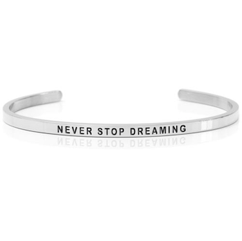 DANIEL SWORD | Armband | Never stop dreaming - Steel