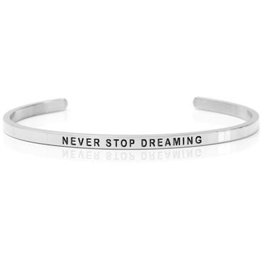 DANIEL SWORD | Armband | Never stop dreaming - Steel
