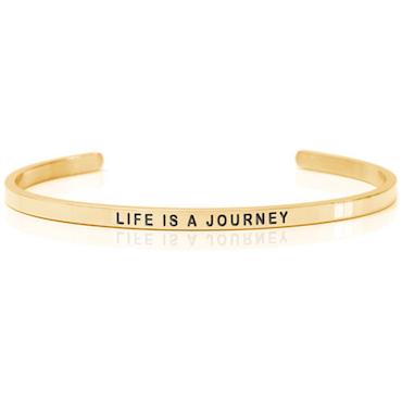 DANIEL SWORD | Armband | Life is a journey - 18K gold