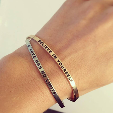 DANIEL SWORD | Armband | I am a warrior - Space grey