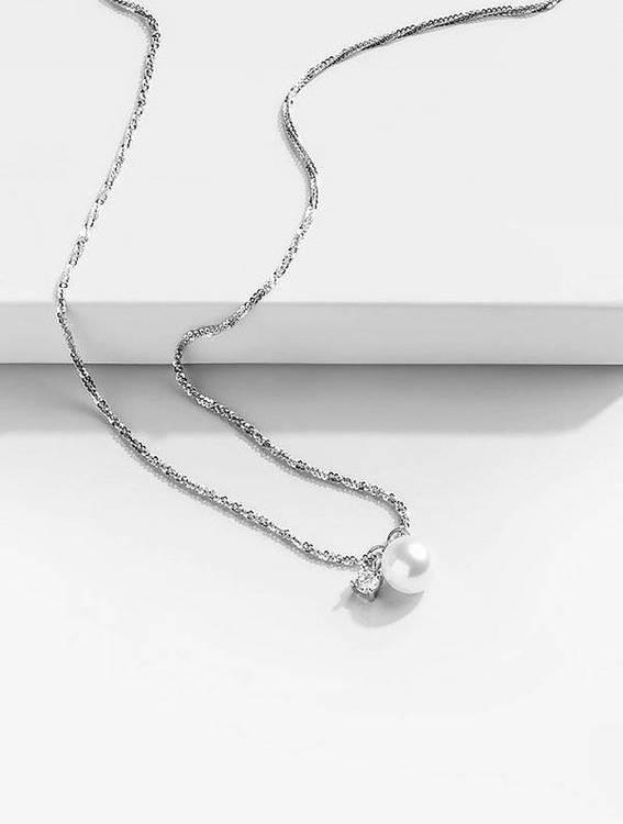 silverhalsband eugene med vit pärla 1 saint avenue