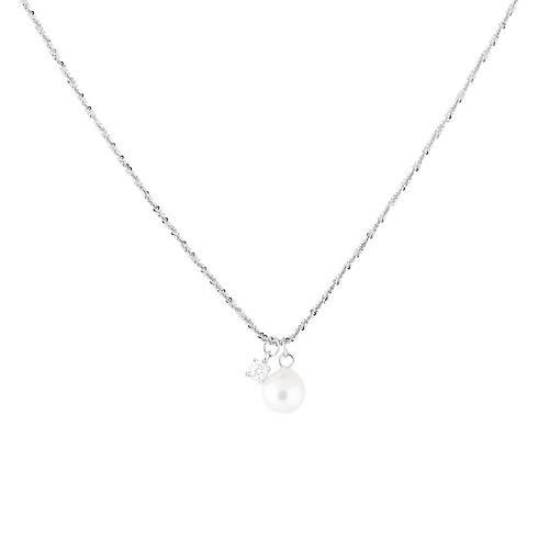 silverhalsband med äkta pärla som berlock 1 saint avenue