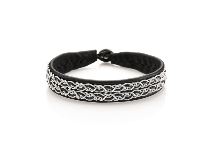 svart tennsmycke armband nordic jewelry design