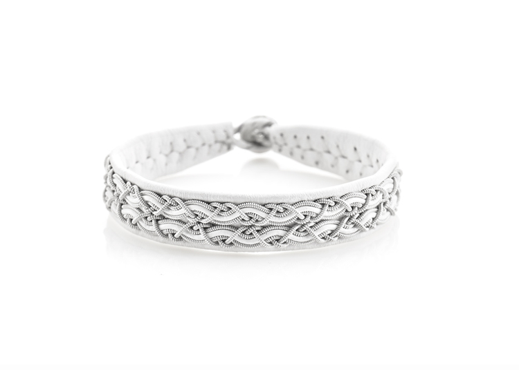 vitt tennsmycke armband nordic jewelry design
