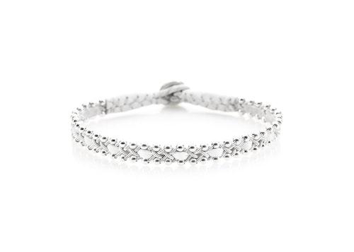 NORDIC JEWELRY DESIGN | Tennarmband med silverpärlor | 2013 Vit