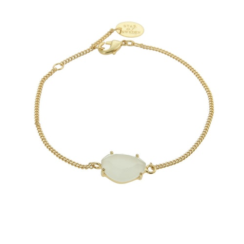 STAR OF SWEDEN | Klassiskt armband | 18K Guld | Milky Aqua