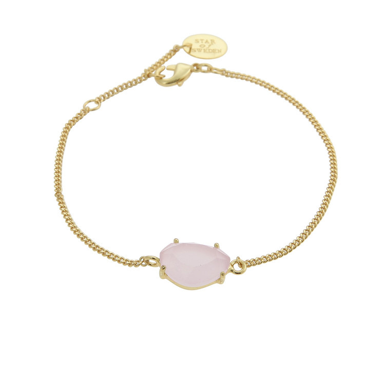 STAR OF SWEDEN | Klassiskt armband | 18K Guld | Powder Pink