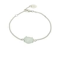 STAR OF SWEDEN | Klassiskt armband | Silver | Milky Aqua