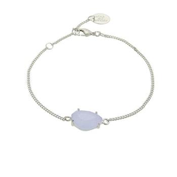 STAR OF SWEDEN | Klassiskt armband | Silver | Light Sapphire Blue