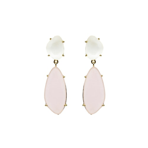 STAR OF SWEDEN | Hängande örhängen | 18K Guld | Powder Pink