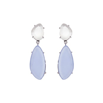 STAR OF SWEDEN | Hängande örhängen | Silver | Light Sapphire Blue