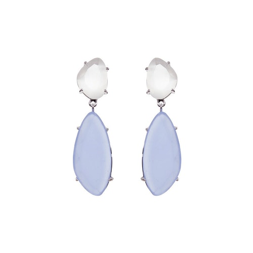 STAR OF SWEDEN   Hängande örhängen   Silver   Light Sapphire Blue
