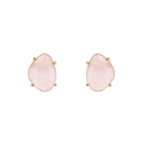 STAR OF SWEDEN | Klassiska örhängen | 18K Guld | Powder Pink