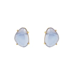 STAR OF SWEDEN | Klassiska örhängen | 18K Guld | Light Sapphire Blue